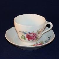 Kaffeetasse D 8,5 cm H 6,5 cm Hutschenreuther Maria Theresia Bunte Blume I