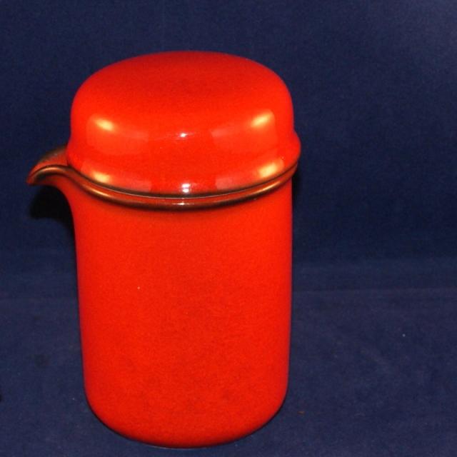 scandic rot milchk nnchen mit deckel sehr gut. Black Bedroom Furniture Sets. Home Design Ideas